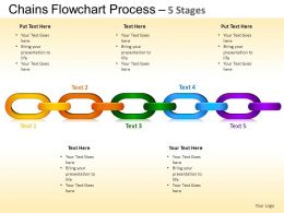 Chains Flowchart Process Diagram 5 Stages Style 1 ppt Templates 0412