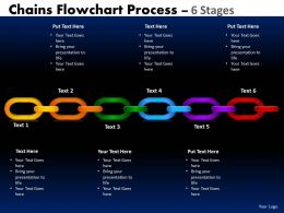Chains Flowchart Process Diagram 6 Stages Style 1 2