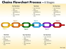 Chains Flowchart Process Diagram 6 Stages Style 1