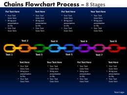Chains Flowchart Process Diagram 8 Stages Style 1 2