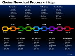 Chains Flowchart Process Diagram 9 Stages Style 1 2