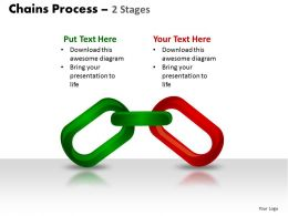 chains process 2 stages powerpoint slides and ppt templates 0412