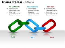 chains process 3 stages powerpoint slides and ppt templates 0412
