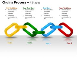 chains process 4 stages powerpoint slides and ppt templates 0412