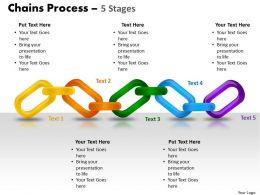 chains process 5 stages powerpoint slides and ppt templates 0412