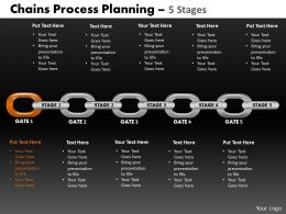 Chains Process Planning 5 Stages Powerpoint Slides And Ppt Templates DB
