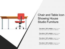 Chair And Table Icon Showing House Studio Furniture