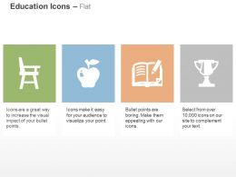 Chair Apple Book Trophy Ppt Icons Graphics