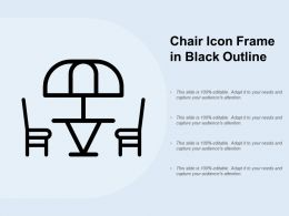 Chair Icon Frame In Black Outline