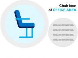 Chair Icon Of Office Area
