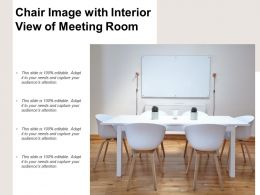 Chair Image With Interior View Of Meeting Room