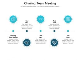 Chairing Team Meeting Ppt Powerpoint Presentation Visual Aids Model Cpb