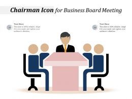 Chairman Icon For Business Board Meeting