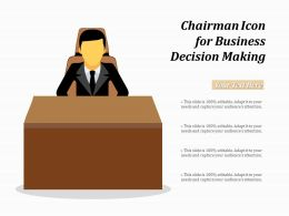 Chairman Icon For Business Decision Making