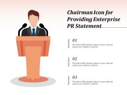 Chairman Icon For Providing Enterprise PR Statement