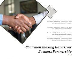 Chairmen Shaking Hand Over Business Partnership