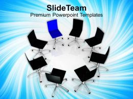 Chairs In Circle Leadership Concept Business Powerpoint Templates Ppt Themes And Graphics