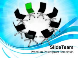 Chairs In Circle Leadership Concept Powerpoint Templates PPT Themes And Graphics 0113