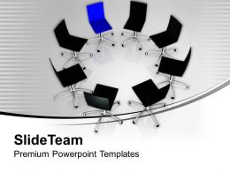 Chairs In Circle Leadership Powerpoint Templates Ppt Themes And Graphics 0213