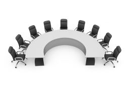 Chairs In Semi Circles Stock Photo