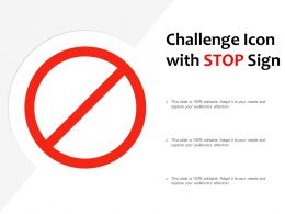 Challenge Icon With Stop Sign