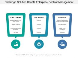 Challenge Solution Benefit Enterprise Content Management