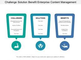 Challenge Solution Benefit Enterprise Content Management