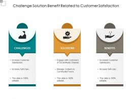 Challenge Solution Benefit Related To Customer Satisfaction