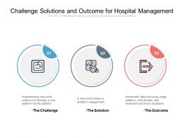 Challenge Solutions And Outcome For Hospital Management