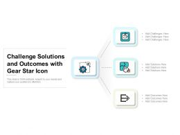 Challenge Solutions And Outcomes With Gear Star Icon