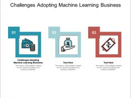 Challenges Adopting Machine Learning Business Ppt Powerpoint Presentation Summary Smartart Cpb