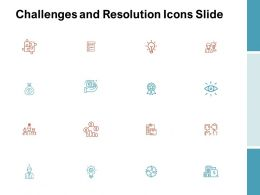 Challenges And Resolution Icons Slide Technology C1039 Ppt Powerpoint Presentation Slides Elements