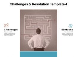Challenges And Resolution Management Ppt Powerpoint Presentation Slides Templates