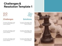Challenges And Resolution Marketing Ppt Powerpoint Presentation Slides Aids