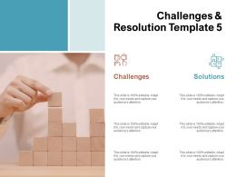 Challenges And Resolution Planning Ppt Powerpoint Presentation Slides Brochure
