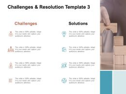 Challenges And Resolution Strategy Ppt Powerpoint Presentation Slides Display