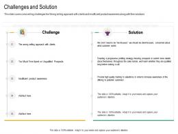 Challenges And Solution Cross Selling Strategies Ppt Demonstration