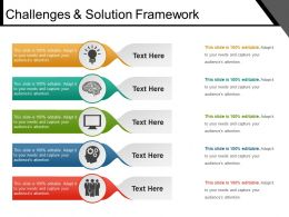 Challenges And Solution Framework Good Ppt Example