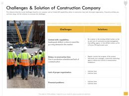 Challenges And Solution Of Construction Company Agency Ppt Powerpoint Presentation Show