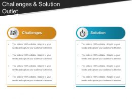 Challenges And Solution Outlet PowerPoint Templates