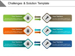 Challenges And Solution Template PowerPoint Guide