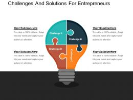 Challenges And Solutions For Entrepreneurs Powerpoint Guide