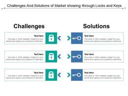 Challenges And Solutions Of Market Showing Through Locks And Keys