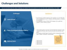 Challenges And Solutions Ppt Powerpoint Presentation Styles Design Templates