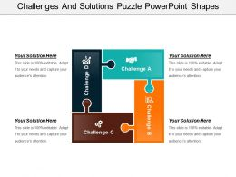 Challenges And Solutions Puzzle Powerpoint Shapes