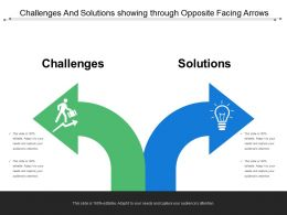Challenges And Solutions Showing Through Opposite Facing Arrows