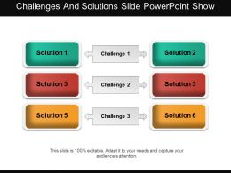 Challenges And Solutions Slide Powerpoint Show
