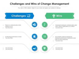 Challenges And Wins Of Change Management