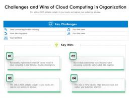 Challenges And Wins Of Cloud Computing In Organization