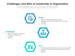 Challenges And Wins Of Leadership In Organization